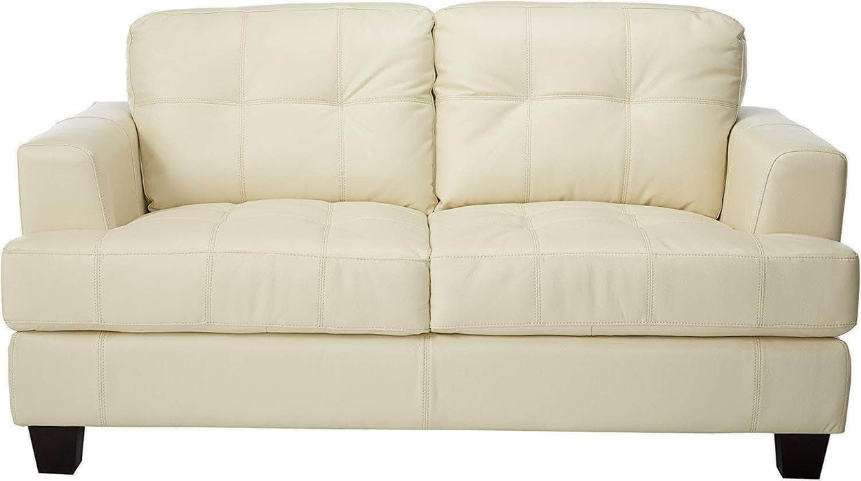 True Contemporary Loveseat Cream Toronto Loveseat with 2 Ottomans