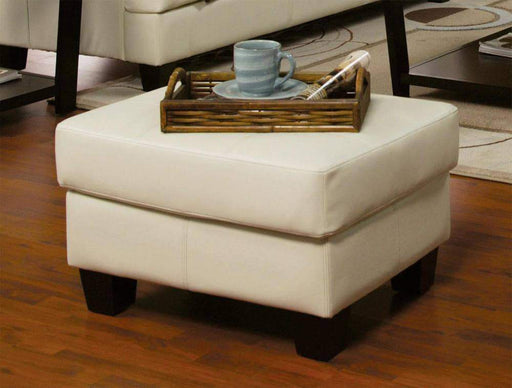 True Contemporary Ottoman Cream Toronto Tufted Bonded Leather Ottoman - 3 Colours