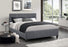 True Contemporary Platform Beds Dark Grey / Twin Jazz Fabric Platform Bed With Headboard