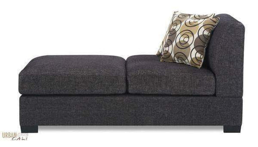 Urban Cali Chaise Hayward Linen Chaise in Ash Black