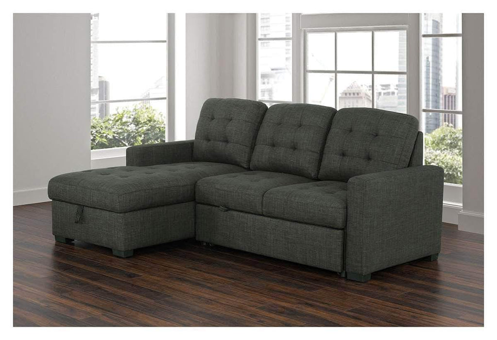 Wondrous Dexter Sleeper Sectional Sofa Bed With Loveseat And Storage Chaise Pabps2019 Chair Design Images Pabps2019Com