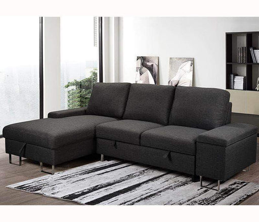 Urban Cali Sleeper Sectional Left Facing Chaise Celso Sleeper Sectional Sofa Bed with Loveseat and Storage Chaise