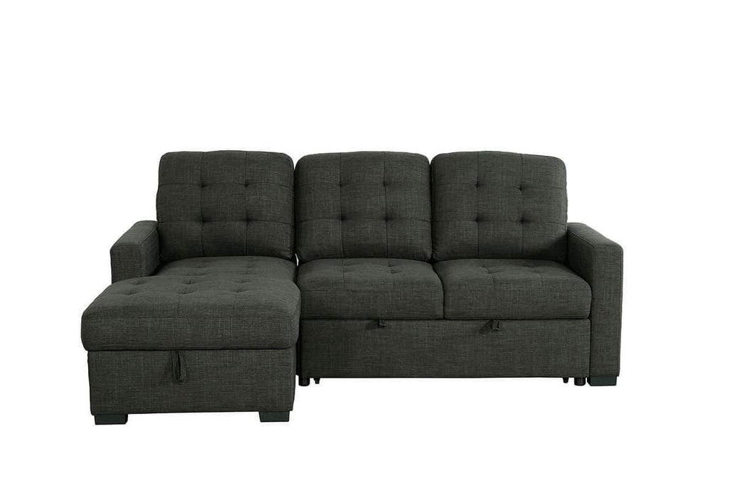 Urban Cali Sleeper Sectional Left Facing Chaise Dexter Sleeper Sectional Sofa Bed with Loveseat and Storage Chaise