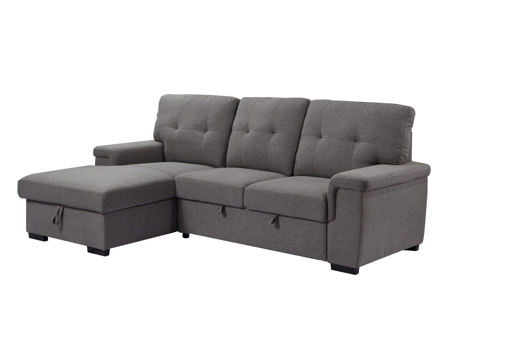 Urban Cali Sleeper Sectional Left Facing Chaise Giada Sleeper Sectional Sofa Bed with Loveseat and Storage Chaise
