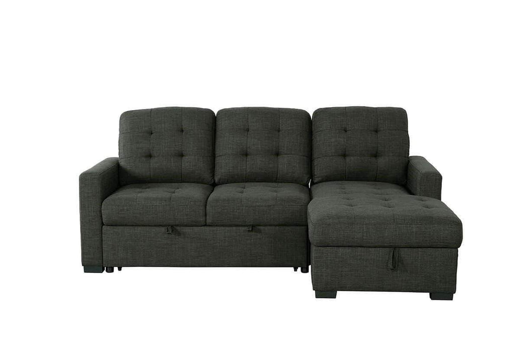 Urban Cali Sleeper Sectional Right Facing Chaise Dexter Sleeper Sectional Sofa Bed with Loveseat and Storage Chaise