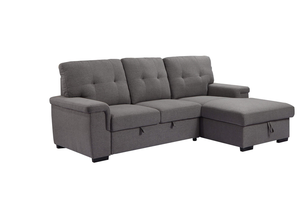 Urban Cali Sleeper Sectional Right Facing Chaise Giada Sleeper Sectional Sofa Bed with Loveseat and Storage Chaise