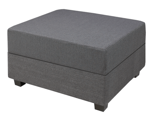 Wholesale Furniture Brokers Canada Baxton Large Ottoman in Cobblestone Leather Match