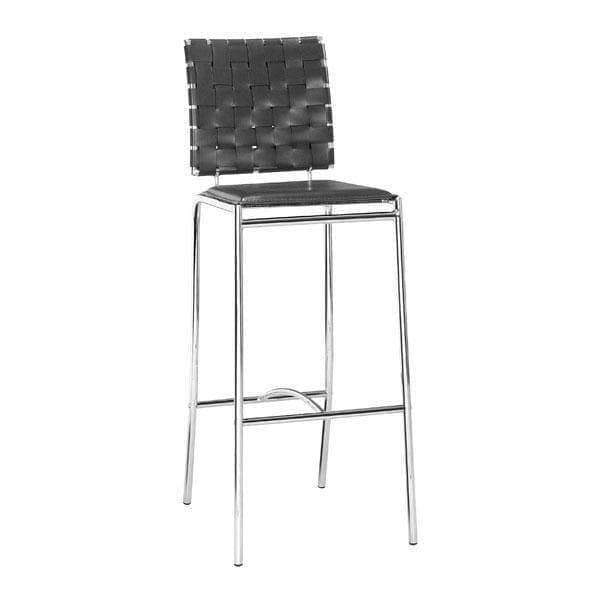 Zuo Modern Bar Stool Black Criss Cross Bar Stool (Includes 2 per Box)