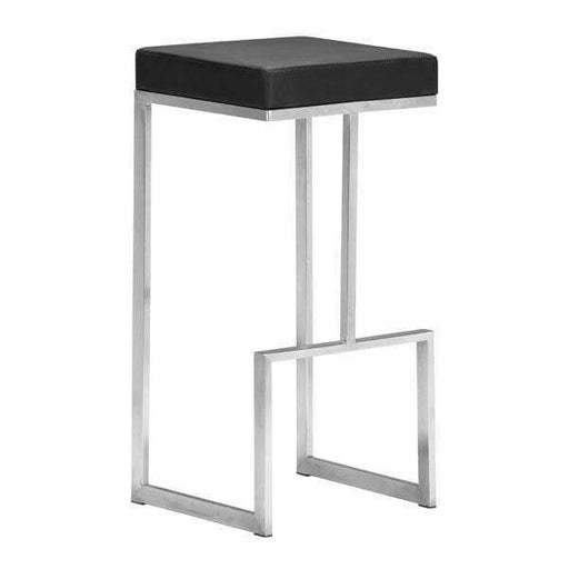 Zuo Modern Bar Stool Black Darwen Bar Stool (Includes 2 per Box)