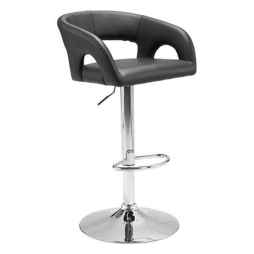 Zuo Modern Bar Stool Black Hark Bar Chair