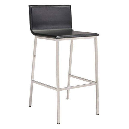 Zuo Modern Bar Stool Black Marina Bar Stool