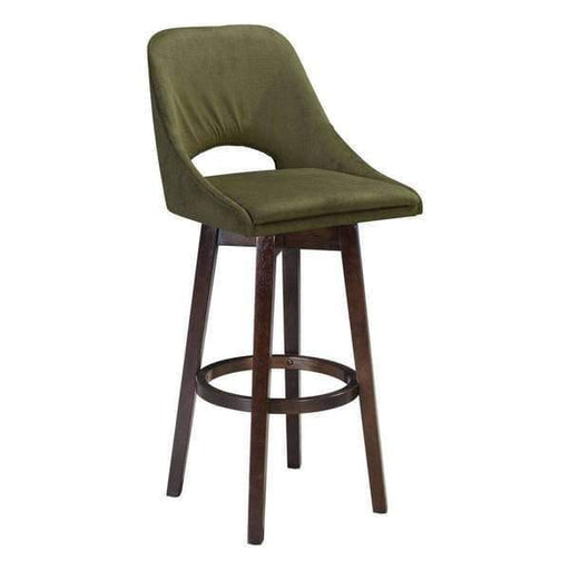 Zuo Modern Bar Stool Emerald Green Ashmore Bar Stool