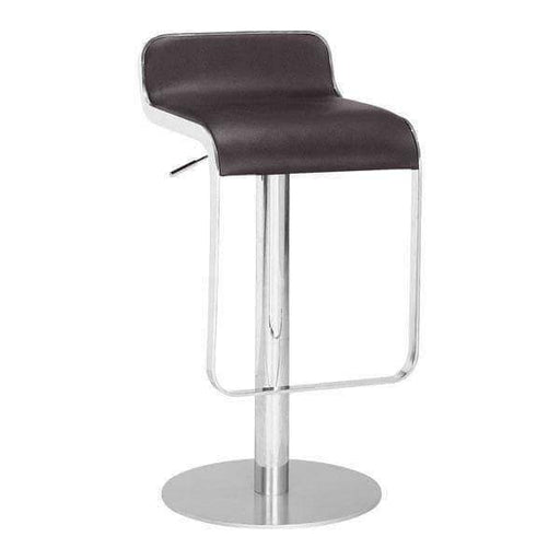 Zuo Modern Bar Stool Espresso Equino Bar Stool