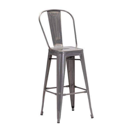 Zuo Modern Bar Stool Gunmetal Elio Bar Chair (Includes 2 per Box)