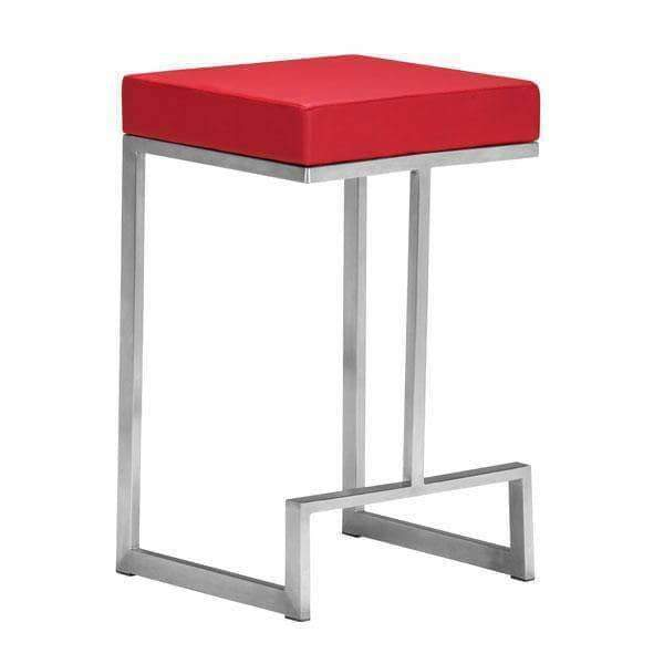 Zuo Modern Bar Stool Red Darwen Counter Stool (Includes 2 per Box)