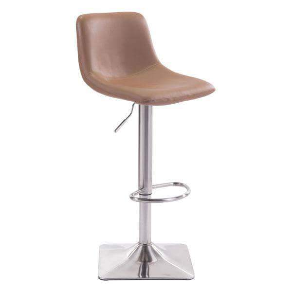 Zuo Modern Bar Stool Taupe Cougar Bar Chair