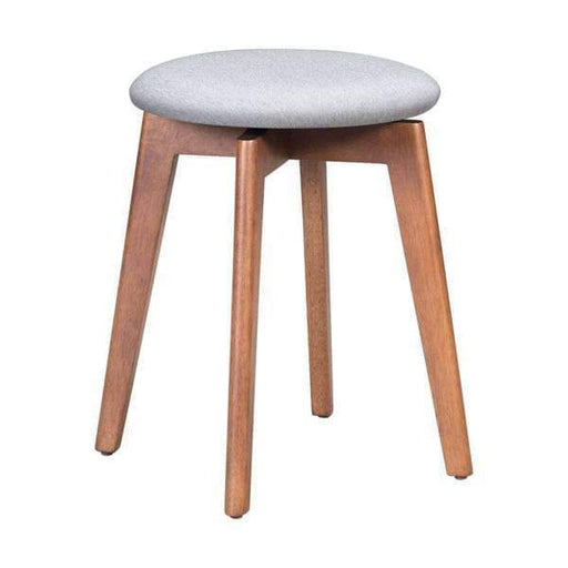 Zuo Modern Bar Stool Walnut & Light Gray Billy Stool (Includes 2 per Box)