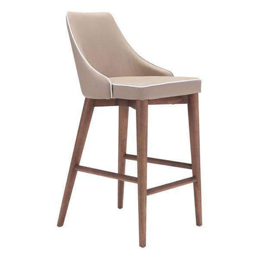 Zuo Modern Beige Moor Counter Chair