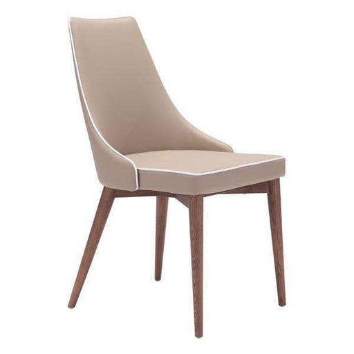 Zuo Modern Beige Moor Dining Chair (Includes 2 per Box)