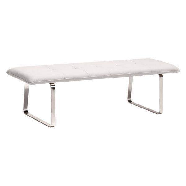 Zuo Modern Bench White Cartierville Bench