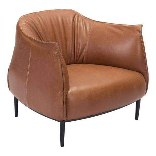 Zuo Modern Chair Cognac Julian Occasional Chair