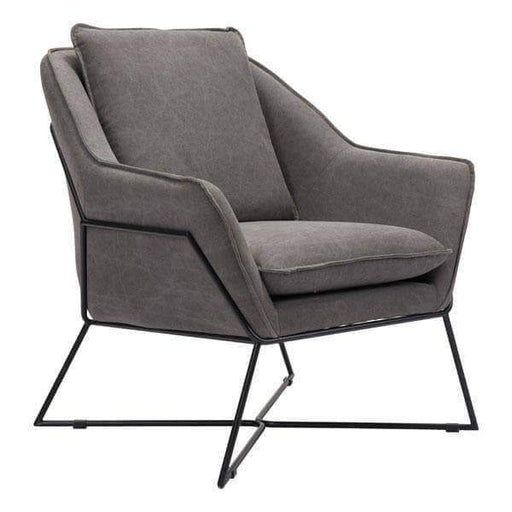 Zuo Modern Chair Grey Lincoln Lounge Chair