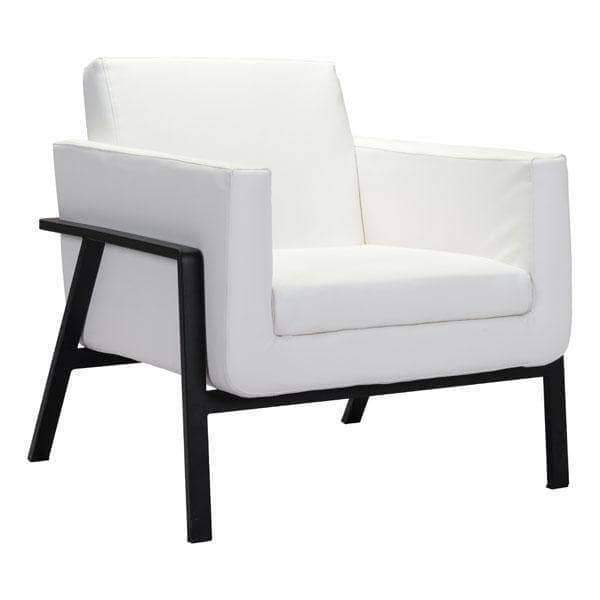 Zuo Modern Chair White Homestead Lounge Chair