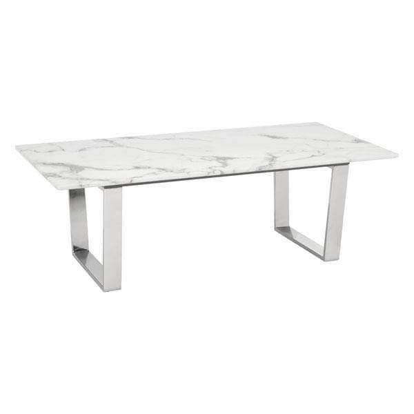 Zuo Modern Coffee Table Brushed Stainless Steel Atlas Coffee Table