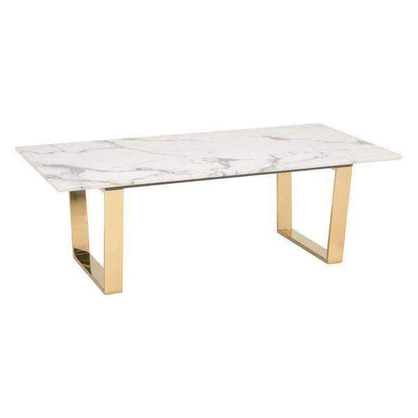 Zuo Modern Coffee Table Gold Atlas Coffee Table