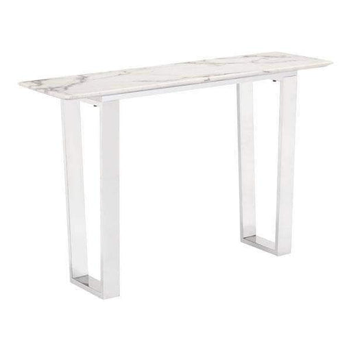 Zuo Modern Console Table Brushed Stainless Steel Atlas Console Table