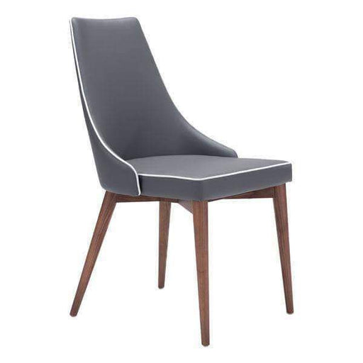 Zuo Modern Dark Grey Moor Dining Chair (Includes 2 per Box)