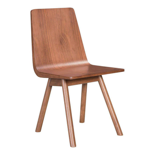 Zuo Modern Dining Chair Audrey Dining Chair Walnut (Includes 2 per Box)