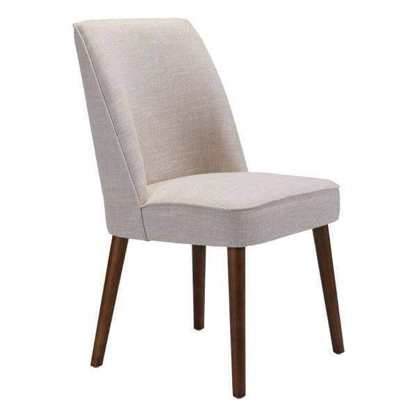 Zuo Modern Dining Chair Beige Kennedy Dining Chair (Includes 2 per Box)