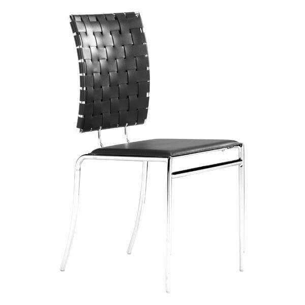 Zuo Modern Dining Chair Black Criss Cross Dining Chair (Includes 4 per Box)