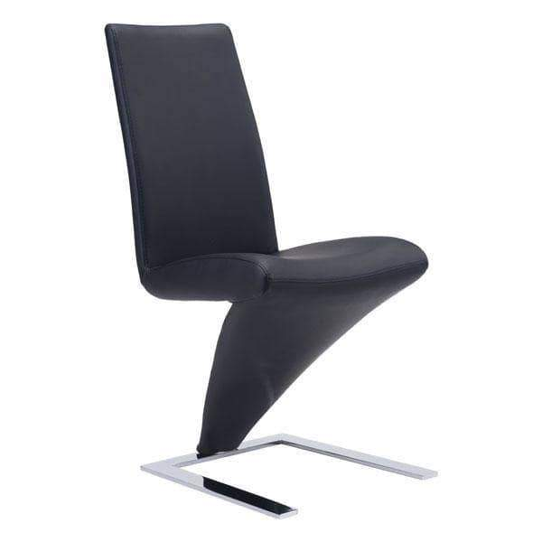Zuo Modern Dining Chair Black Herron Dining Chair (Includes 2 per Box)