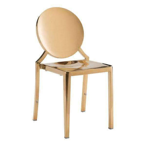 Zuo Modern Dining Chair Gold Eclipse Dining Chair (Includes 2 per Box)