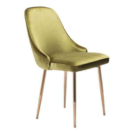 Zuo Modern Dining Chair Green Velvet Merritt Dining Chair