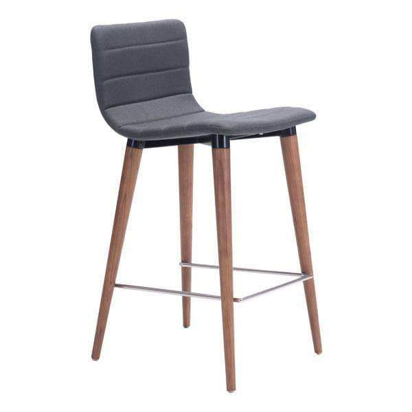 Zuo Modern Dining Chair Grey Jericho Counter Chair (Includes 2 per Box)