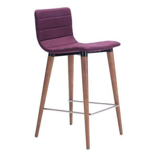 Zuo Modern Dining Chair Purple Jericho Counter Chair (Includes 2 per Box)