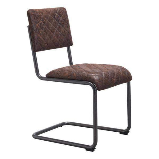 Zuo Modern Dining Chair Vintage Brown Father Dining Chair (Includes 2 per Box)