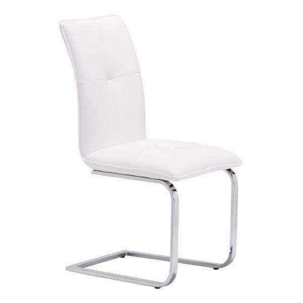 Zuo Modern Dining Chair White Anjou Dining Chair (Includes 2 per Box)