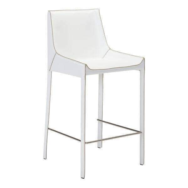 Zuo Modern Dining Chair White Fashion Counter Chair (Includes 2 per Box)