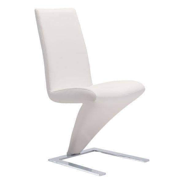 Zuo Modern Dining Chair White Herron Dining Chair (Includes 2 per Box)