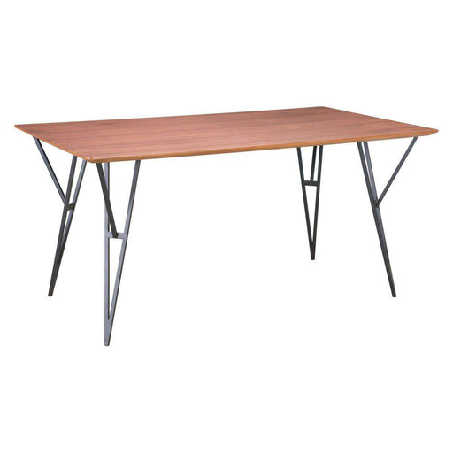 Zuo Modern Dining Table Audrey Dining Table Walnut & Black