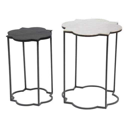 Zuo Modern End Table Brighton Accent Table Black & White
