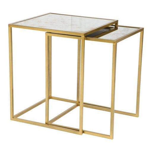 Zuo Modern End Table Calais Nesting Tables Brass