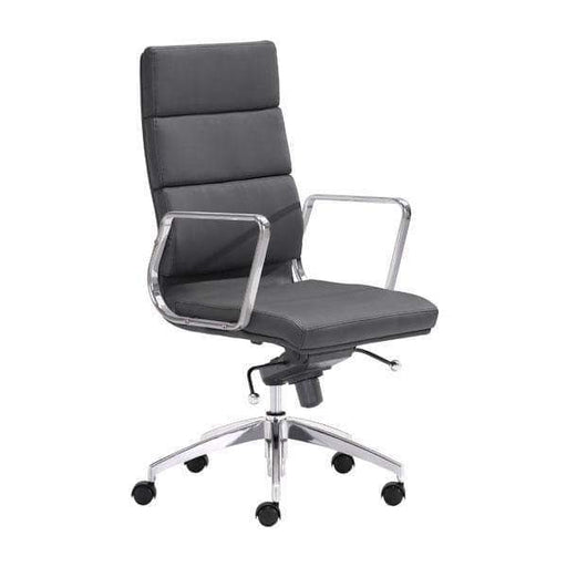 Zuo Modern Office Chair Black Engineer High Back Office Chair