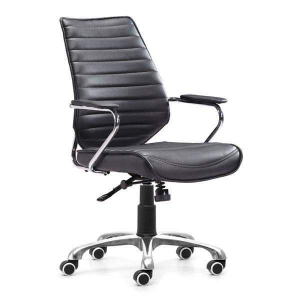 Zuo Modern Office Chair Black Enterprise Low Back Office Chair