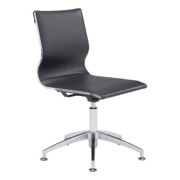Zuo Modern Office Chair Black Glider Conference Chair
