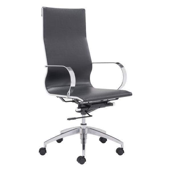 Zuo Modern Office Chair Black Glider High Back Office Chair
